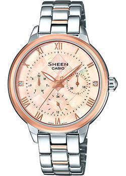 Японские наручные  женские часы Casio SHE-3055SPG-4A. Коллекция Sheen