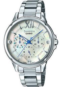Японские наручные  женские часы Casio SHE-3056D-7A. Коллекция Sheen