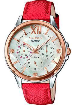 Японские наручные  женские часы Casio SHE-3056GL-7A. Коллекция Sheen