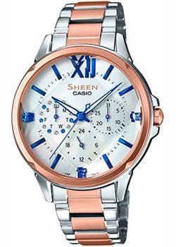 Японские наручные женские часы Casio SHE-3056SPG-7AUER. Коллекция Sheen фото