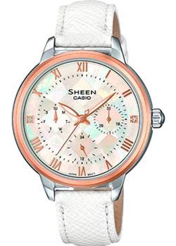 Японские наручные  женские часы Casio SHE-3057PGL-7A. Коллекция Sheen
