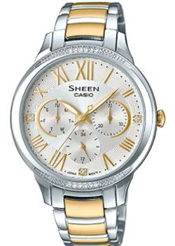 Японские наручные  женские часы Casio SHE-3058SG-7A. Коллекция Sheen