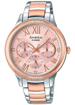 Японские наручные  женские часы Casio SHE-3058SPG-4A. Коллекция Sheen