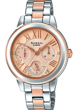 Японские наручные  женские часы Casio SHE-3059SPG-9A. Коллекция Sheen
