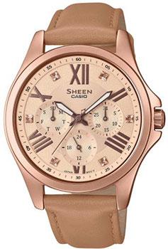 Японские наручные женские часы Casio SHE-3806GL-9AUER. Коллекция Sheen фото