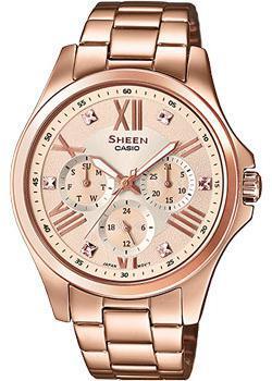 Японские наручные  женские часы Casio SHE-3806PG-9A. Коллекция Sheen