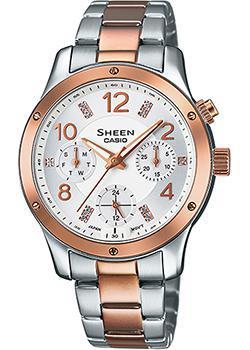 Японские наручные  женские часы Casio SHE-3807SPG-7A. Коллекция Sheen