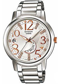 Японские наручные  женские часы Casio SHE-4028D-7A. Коллекция Sheen
