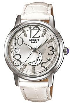 Японские наручные  женские часы Casio SHE-4028L-7A. Коллекция Sheen