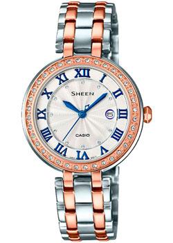 Японские наручные  женские часы Casio SHE-4034BSG-7B. Коллекция Sheen