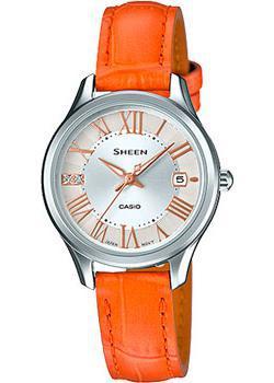 Японские наручные  женские часы Casio SHE-4050L-7A. Коллекция Sheen