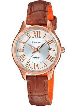 Японские наручные  женские часы Casio SHE-4050PGL-7A. Коллекци Sheen