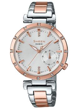 Японские наручные  женские часы Casio SHE-4051SPG-7A. Коллекция Sheen