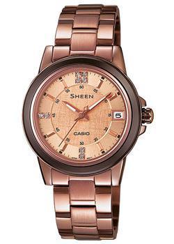 Японские наручные  женские часы Casio SHE-4512BR-9A. Коллекция Sheen