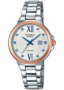 Японские наручные  женские часы Casio SHE-4524SPG-7B. Коллекция Sheen