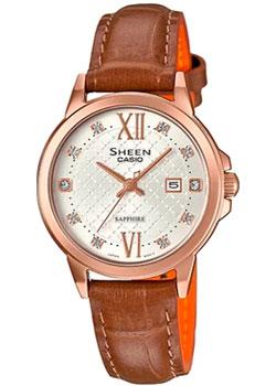 Японские наручные  женские часы Casio SHE-4525PGL-7A. Коллекция Sheen