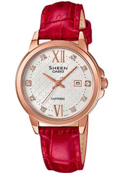 Японские наручные  женские часы Casio SHE-4525PGL-7B. Коллекция Sheen
