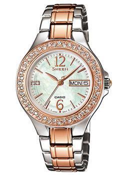 Японские наручные  женские часы Casio SHE-4800SG-7A. Коллекция Sheen