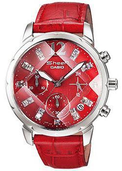 Японские наручные  женские часы Casio SHN-5010L-4A. Коллекция Sheen