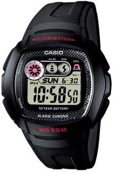 Японские наручные  мужские часы Casio W-210-1C. Коллекция Illuminator