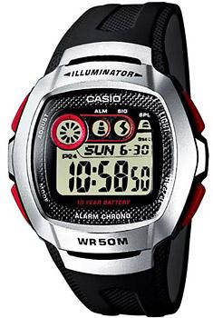 Японские наручные  мужские часы Casio W-210-1D. Коллекция Digital