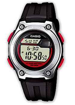 Японские наручные  мужские часы Casio W-211-1B. Коллекция Digital