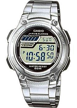 Японские наручные  мужские часы Casio W-212HD-1A. Коллекция Standart Digital