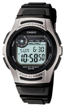 Японские наручные  мужские часы Casio W-213-1A. Коллекция Illuminator