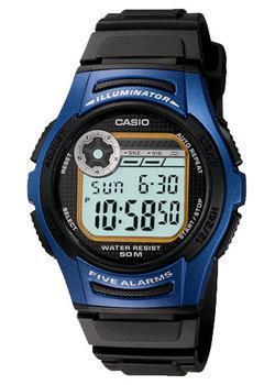 Японские наручные  мужские часы Casio W-213-2A. Коллекция Illuminator