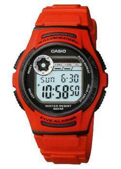 Японские наручные  мужские часы Casio W-213-4A. Коллекция Illuminator