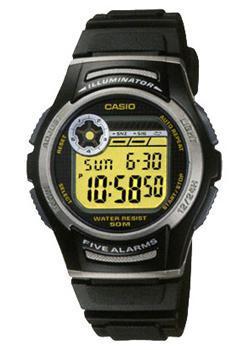 Японские наручные  мужские часы Casio W-213-9A. Коллекция Illuminator