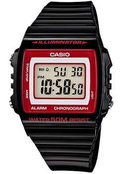 Японские наручные  мужские часы Casio W-215H-1A2. Коллекция Illuminator