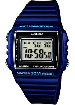 Японские наручные  мужские часы Casio W-215H-2A. Коллекция Illuminator