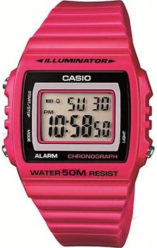 Японские наручные  мужские часы Casio W-215H-4A. Коллекция Illuminator