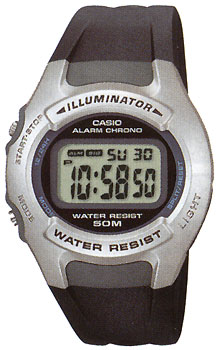 Японские наручные  мужские часы Casio W-42H-1A. Коллекция Digital