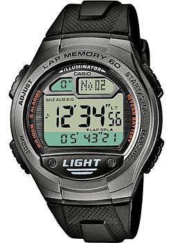 Японские наручные  мужские часы Casio W-734-1A. Коллекция Standart