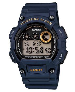 Японские наручные мужские часы Casio W-735H-2A. Коллекция Digital фото