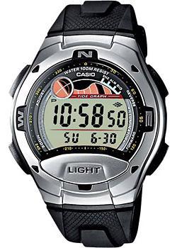 Японские наручные  мужские часы Casio W-753-1A. Коллекция Sport timer