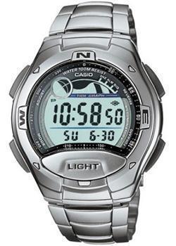 Японские наручные  мужские часы Casio W-753D-1A. Коллекция Sport timer