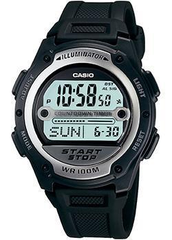 Японские наручные  мужские часы Casio W-756-1A. Коллекция Illuminator
