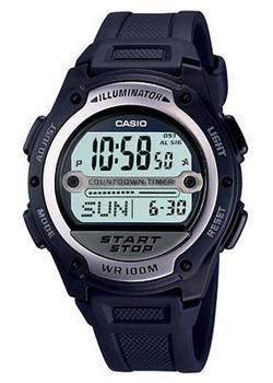 Японские наручные  мужские часы Casio W-756-2A. Коллекция Illuminator