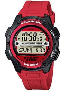 Японские наручные  мужские часы Casio W-756-4A. Коллекция Illuminator