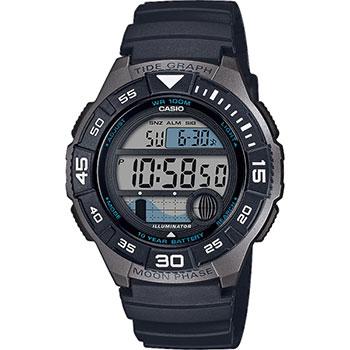 Японские наручные мужские часы Casio WS-1100H-1AVEF. Коллекция Digital фото
