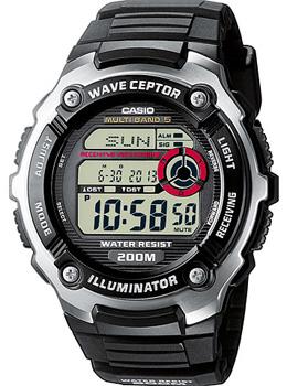 Японские наручные  мужские часы Casio WV-200E-1A. Коллекция Wave Ceptor