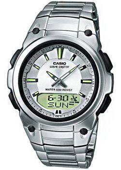 Японские наручные  мужские часы Casio WVA-109HDE-7A. Коллекци Wave Ceptor