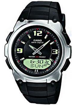 Купить Японские наручные мужские часы Casio WVA-109HE-1B. Коллекция Wave Ceptor