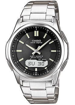 Японские наручные мужские часы Casio WVA-M630TD-1A. Коллекция Wave Ceptor