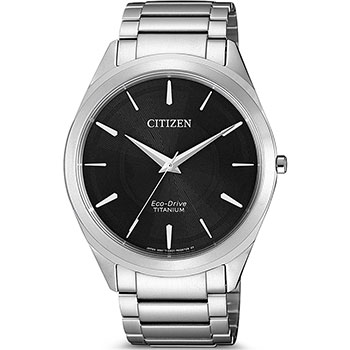 Японские наручные мужские часы Citizen BJ6520-82E. Коллекция Titanium фото