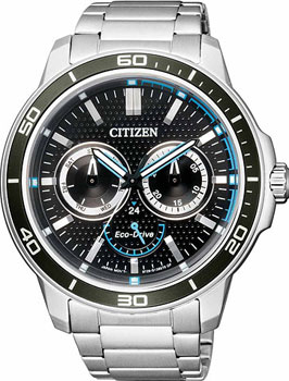 Японские наручные  мужские часы Citizen BU2040-56E. Коллекци Eco-Drive