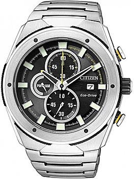 Японские наручные мужские часы Citizen CA0155-57E. Коллекция Eco-Drive